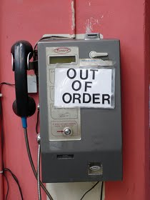OUT OF ORDER payphone